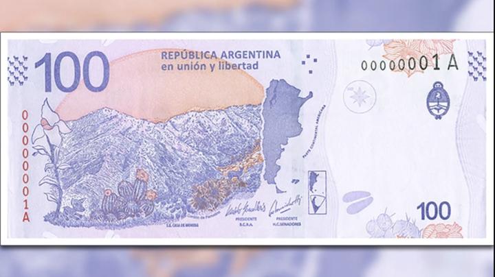 Dorso nuevo billete de 100 pesos