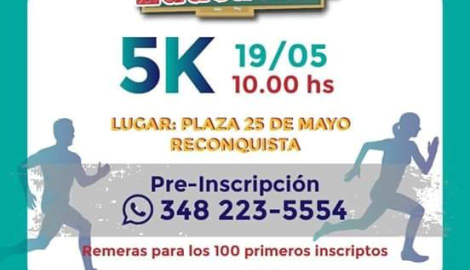 """Hoy corren los 5 K """"por la educación"""" en Reconquista."""