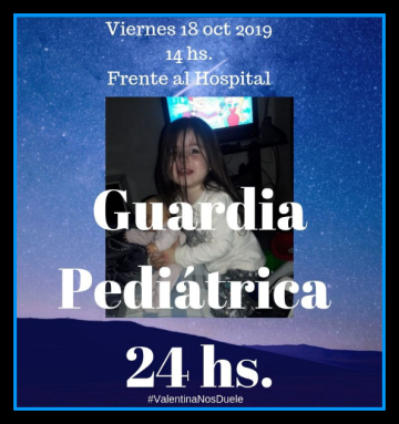 Valentina guardia pediátrica