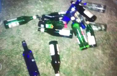 28022020 mas de 100 menores victimas de alcoholemia en una quinta de calle Fray Rossi 4365 evidencia de botellas.jpeg