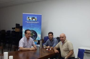 El Senador Orfilio Marcon con representantes de la Cámara de Comercio Exterior.