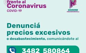 Reconquista habilitó un número para denuncias por precios excesivos o desabastecimiento.
