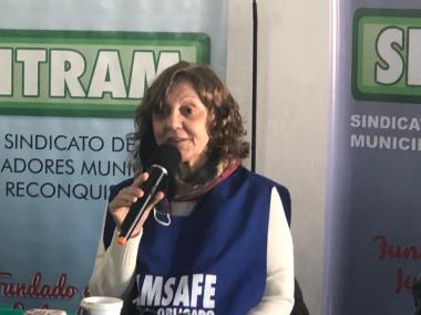 Hemilse Cañete de AMSAFE.