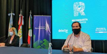 Dra. Leira Mansur y el Intendente Dr. Amadeo Enrique Vallejos.