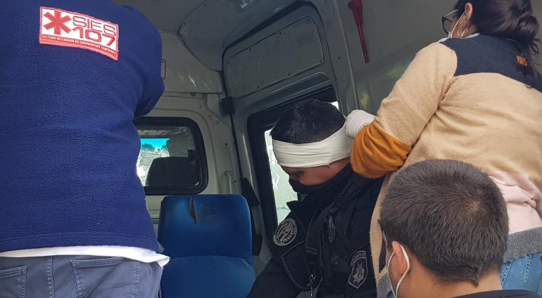 20210610_145143 Usurpaciones Barrio Belén Policías heridos