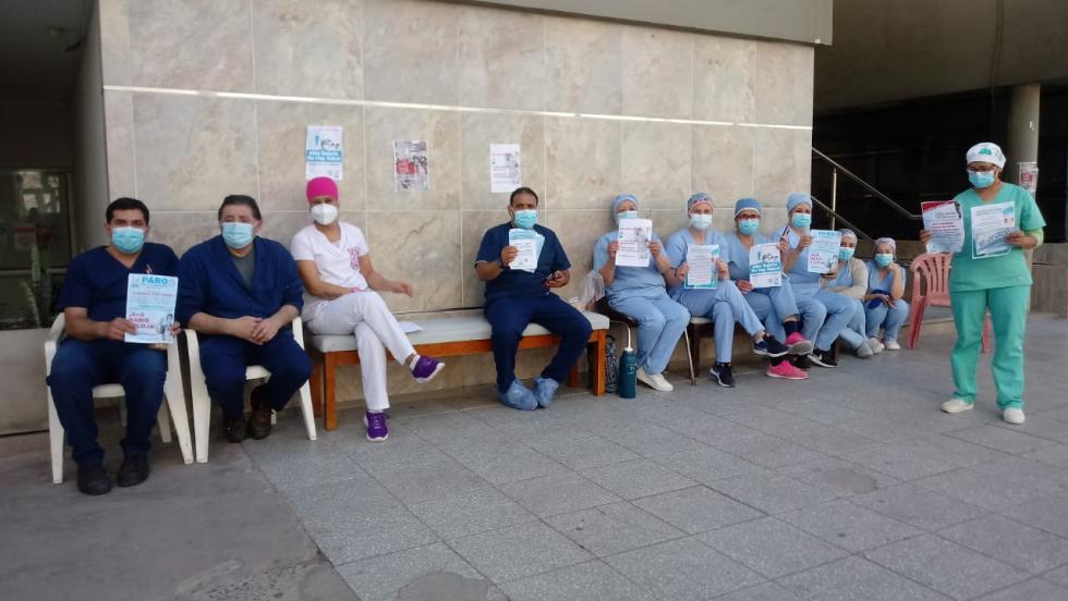 protesta manifestación, enfermeros, sanidad ATSA sanatorio