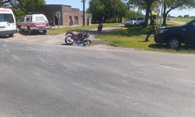 Un motociclista lesionado luego de un choque de motos; mientras que en otro siniestro vial solo se reportaron daños materiales