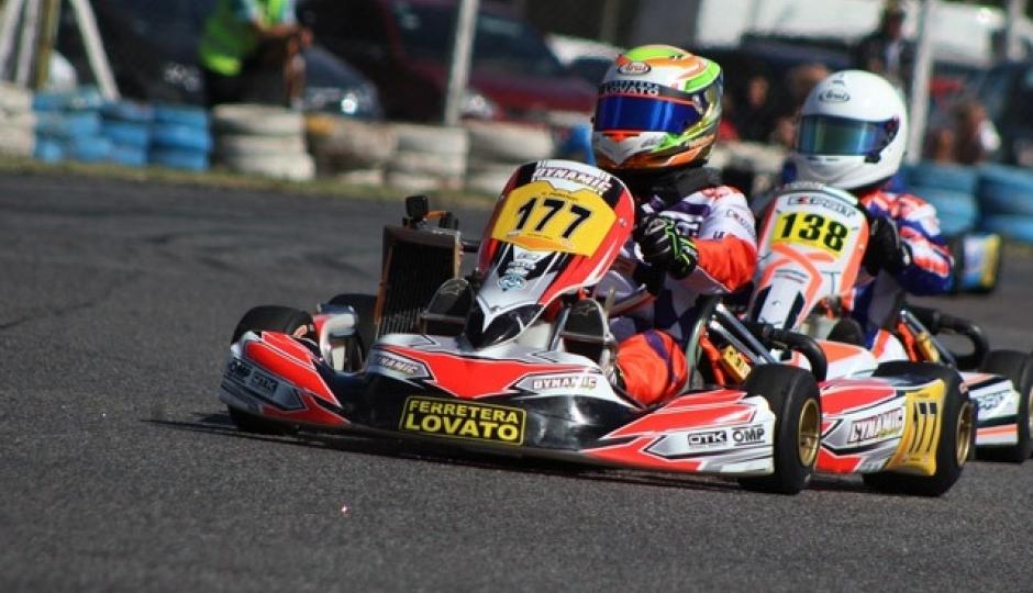 Giuliano Pereson listo para el evento 1 del Campeonato Argentino de Karting.