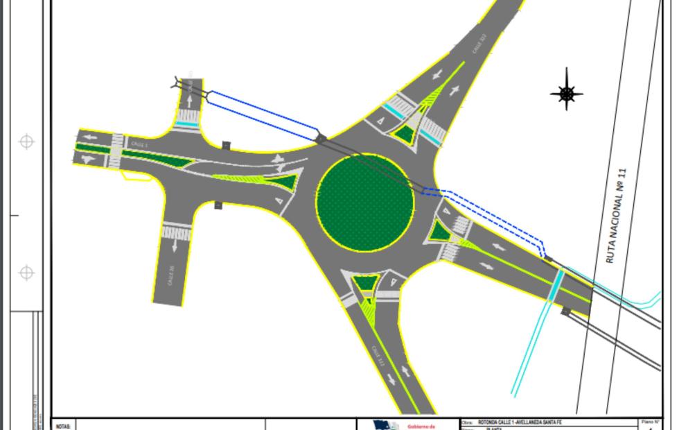 Avellaneda: Se inician las tareas previas a la construcción de la rotonda en Calle 1 y 20: