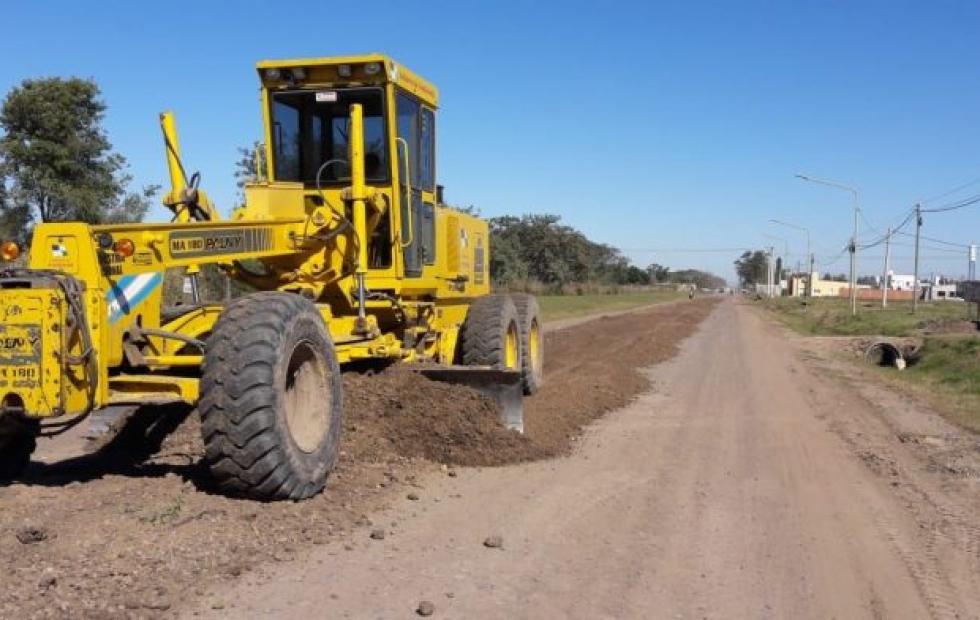 El gobierno informó que continúan mejorando el estado de las calles de piso natural en Avellaneda. Dónde.