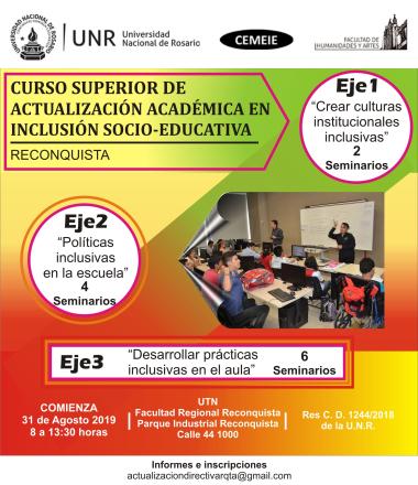 curso actualización académica en inclusión socio educativa