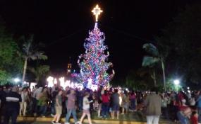 Reconquista encendió su árbol de Navidad con fiesta en la plaza 25 de Mayo. Hoy lo hace Avellaneda.