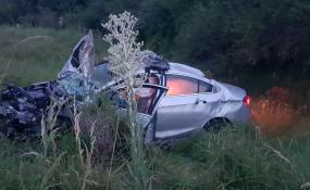 Fallecieron dos profesores en un choque frontal en plena recta sobre Ruta Nacional 11 en jurisdicción de Vera.