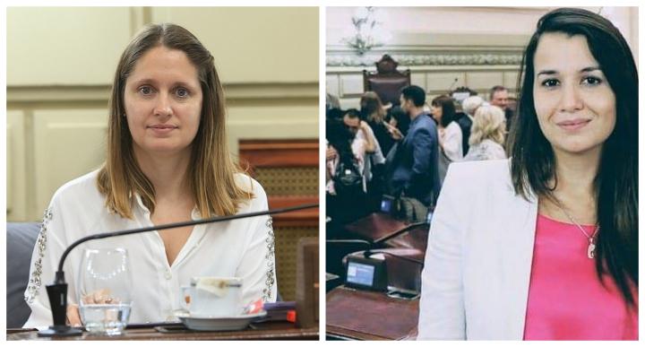 María Laura Corgniali y Marlén Espíndola en la cámara de diputados de la provincia.jpg