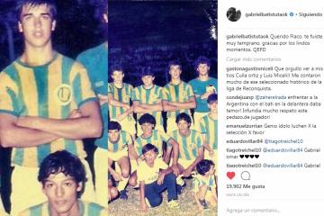 Gabriel Batistuta y Hugo Piris en la Selección Liguista