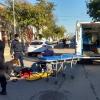 Mañana accidentada en Reconquista. El tercer choque que se produjo en una hora ocurrió en el microcentro de la ciudad.