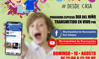 La Municipalidad de Reconquista invita a festejar todos juntos el Día del Niño.