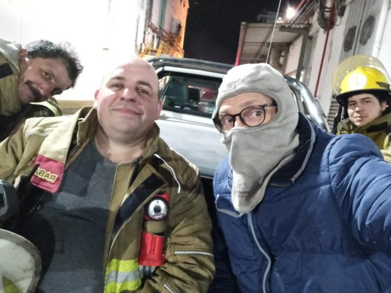 Bomberos Cesar romano y cia 31 agosto 2021 incendio en Friar