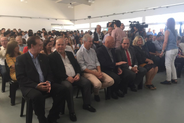 Inauguración nueva escuela del Barrio Cooperación de Avellaneda