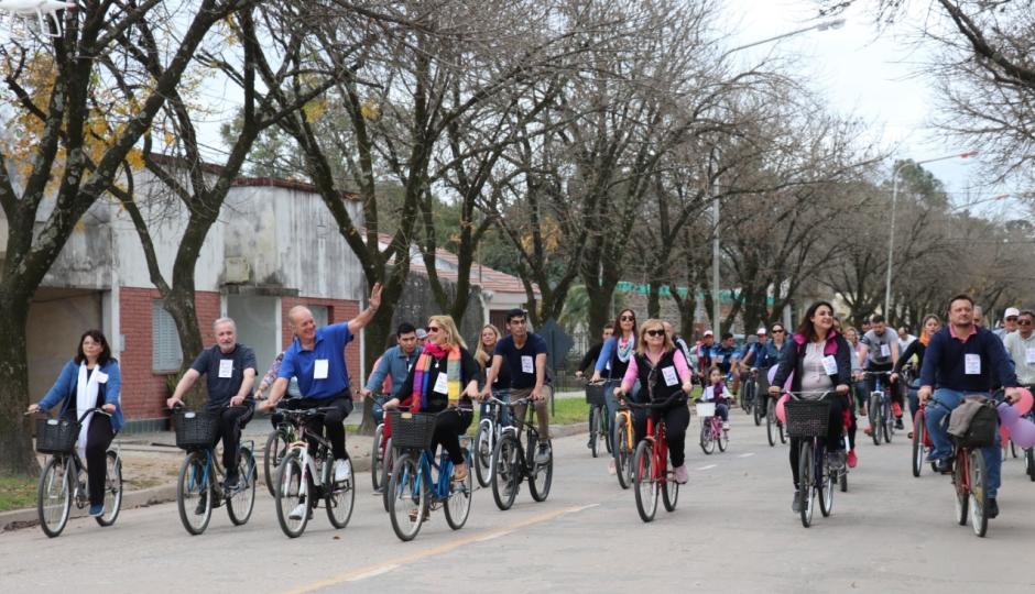 Más de 3000 personas bicicletearon en Malabrigo.