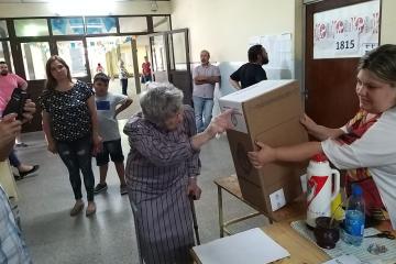 27102019 elecciones votó María Stechina de Venturini 88 años Votó por sus hijos nietos bisnietos y por la Patria.jpeg