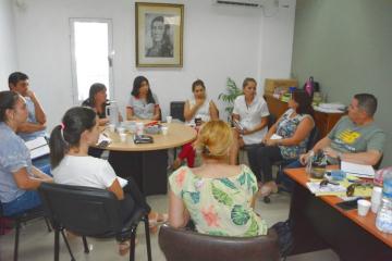 Reunión del Gobierno de Avellaneda con representantes del programa Pedagógico social y el Socioeducativo de la Región II de Educación.