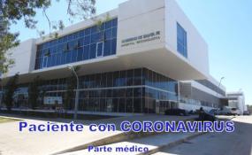 Evoluciona bien. Parte médico del martes de la única paciente con Coronavirus que asisten en el Hospital Reconquista.