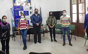 El Intendente Vallejos recibió a representantes de gimnasios de Reconquista.