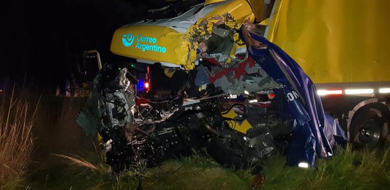 Choque de camiones en Ruta Nacional 11 jueves 13 mayo 2021