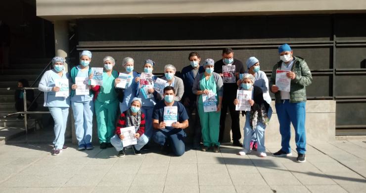 Nueva manifestación del personal de salud y ahora con paro