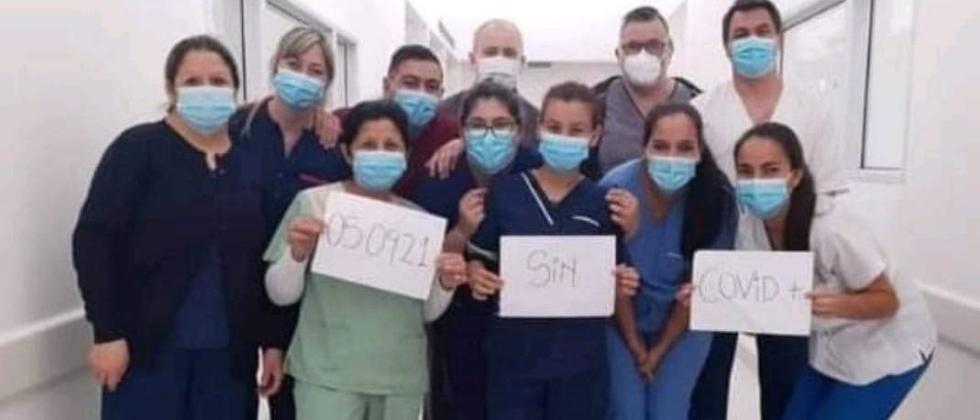 5 septiembre 2021 festejaron UCI sin covid en el Hospital Reconquista coronavirus
