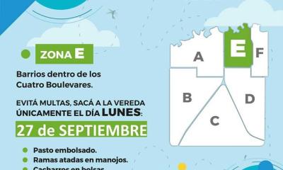 Patio Limpio: Quienes deben sacar las ramas, pastos y cacharros el próximo lunes 27 de septiembre