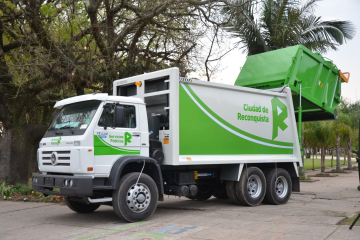 Camión recolector de residuos de Reconquista.