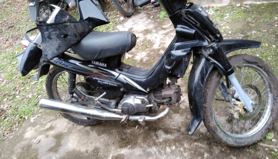 Sebastián Miguel Blanco tenía la moto que le robaron a González en Villa Ocampo luego de romper el candado del portón de su casa.