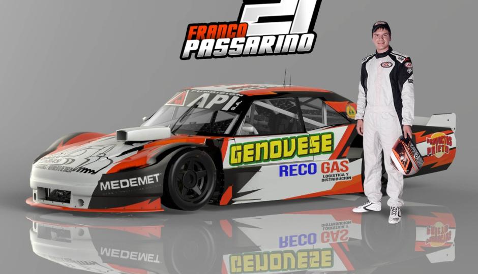 Franco Passarino disputa este fin de semana la penúltima fecha del TC Pista Mouras en La Plata.