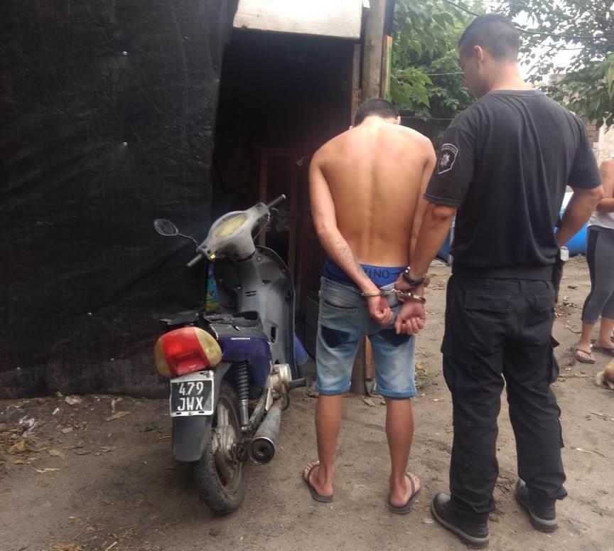 moto secuestrada en poder de Axel Daniel Mieres