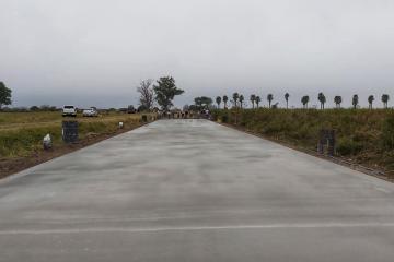 Pavimento en Malabrigo.