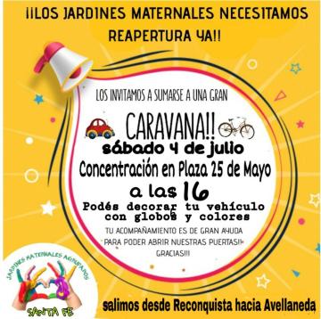 Jardines maternales movilización.