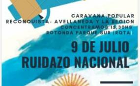 La Multisectorial por la Soberanía y el Trabajo explica el motivo de la caravana del 9 de julio. Qué dijo Aldo Sotelo en RH sobre la convocatoria. AUDIO.
