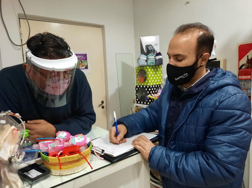 Billetera Santa Fe inspecciona comercios habilitados