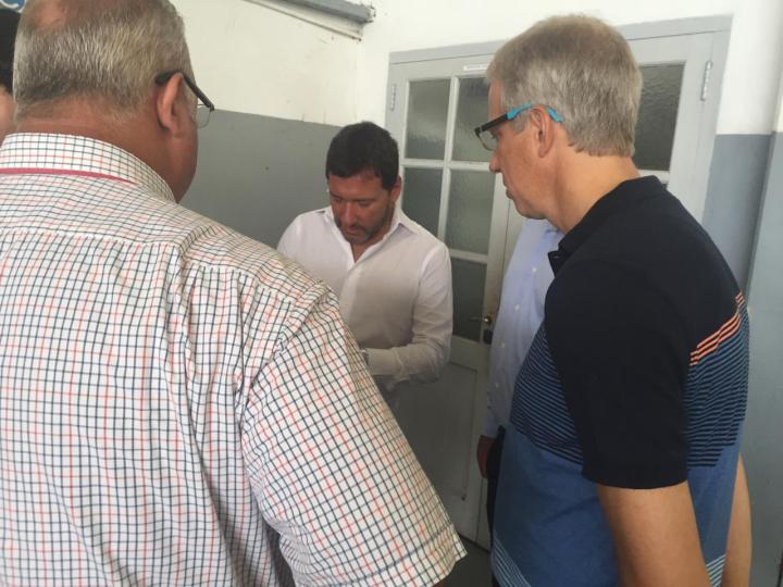 31012019 visita de macri a Reconquista Aeropuerto ceremonial toma datos de los intendentes b.jfif