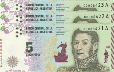 Billete 5 pesos