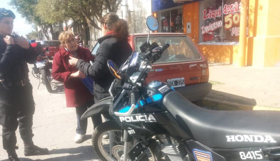 Dos mujeres chocaron en Patricio Diez y 25 de Mayo.