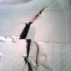 Otra vez se rompió el pavimento de calle Olessio.