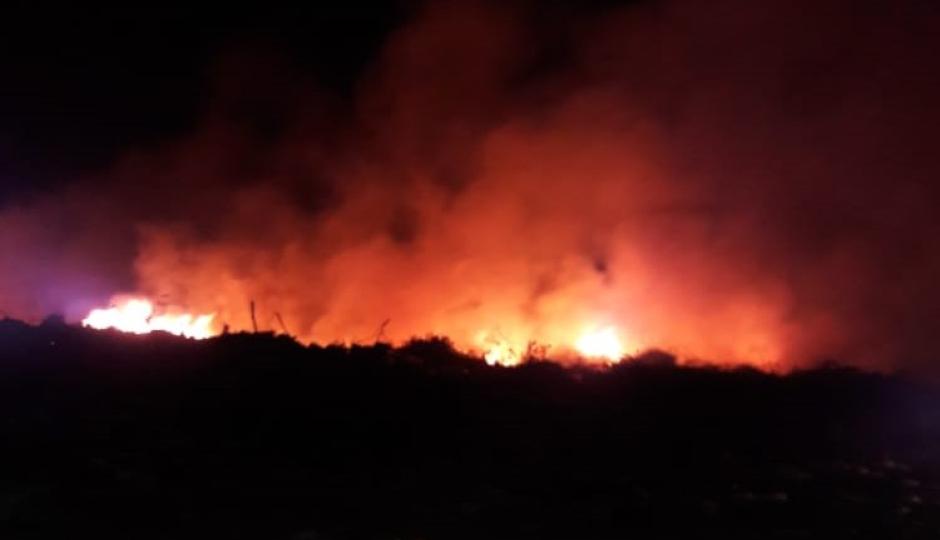 Incendio en el basurero municipal.