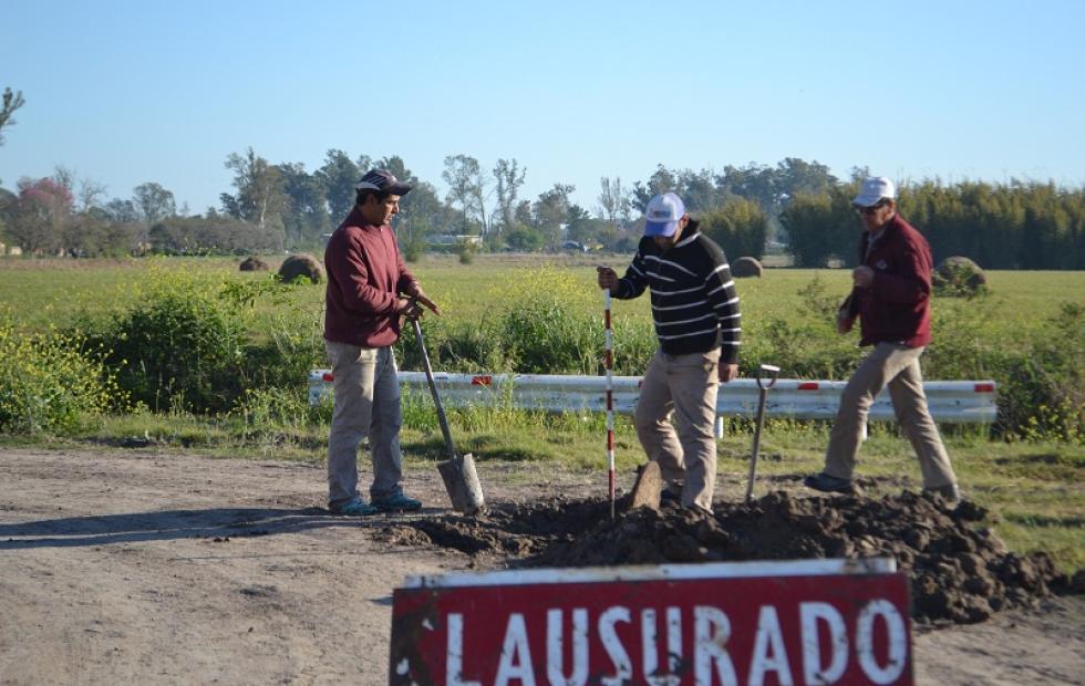 Continúan los trabajos de Cloacas en el Loteo Quinta Grande, más del 90 % de Malabrigo cuenta con la cobertura de la red cloacal.
