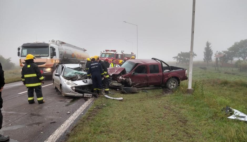 Choque frontal sobre la Ruta 11 dejó una víctima fatal.