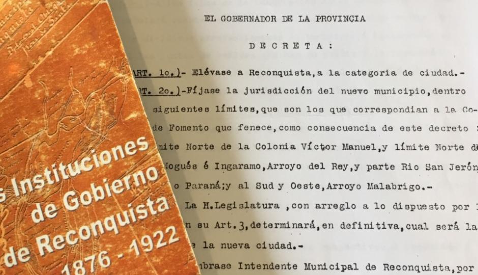 ¡Reconquista hace 97 años es ciudad! Comunicado de los concejales del FPCyS