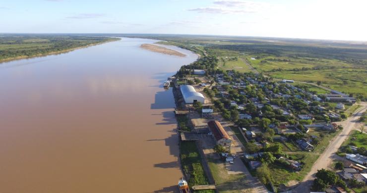 Notable bajante del Río Paraná. Perdió más de un metro en pocos días y sigue bajando.
