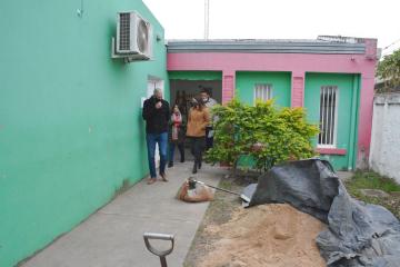 Obras de remodelación edilicia del salón comunitario donde funcionará un Centro de Desarrollo Infantil en Bº Don Pedro.